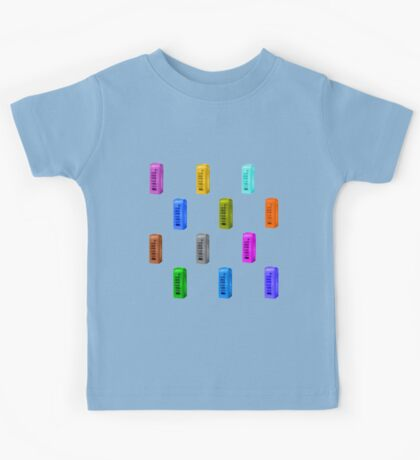 Phone booth on limpet shell background Kids Tee
