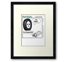 Cartoon : Tired and Exhausted Framed Print