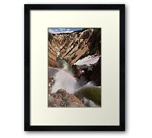 Brink of the Lower Falls of Yellowstone Framed Print