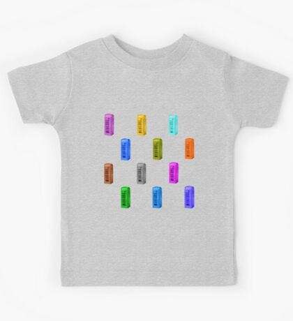 Phone booth on iced coffee background Kids Tee