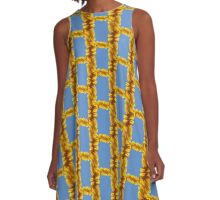 Sunflower frame A-Line Dress