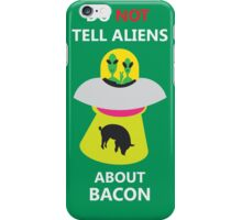 alien kidnap bacon iPhone Case/Skin