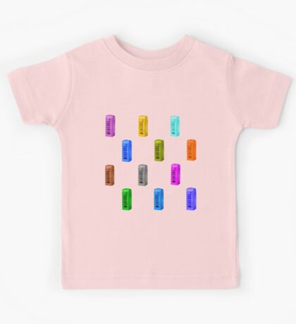 Phone booth on peach echo background Kids Tee