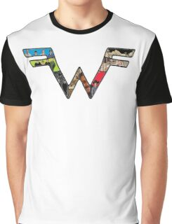 Weezer Logo with photos of crew Graphic T-Shirt
