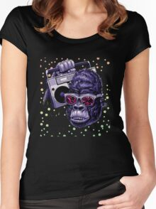kingkong like music Women's Fitted Scoop T-Shirt