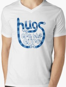 Hugs are the cure Mens V-Neck T-Shirt