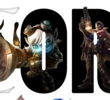League of Legends: Adc or feed Sticker