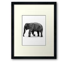 Polygonal Elephant Framed Print