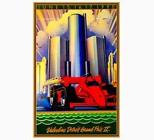 """DETROIT GRAND PRIX"" Vintage Auto Racing Advertising Print Unisex T-Shirt"