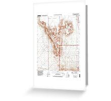 USGS TOPO Map Arizona AZ Childs Mountain 310851 1996 24000 Greeting Card