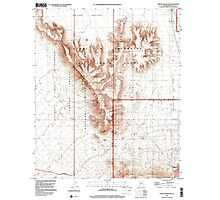 USGS TOPO Map Arizona AZ Childs Mountain 310851 1996 24000 Photographic Print
