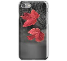 Tiny Maple Leaves Perspective #2 iPhone Case/Skin
