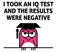 My IQ Results Were Negative by artpolitic