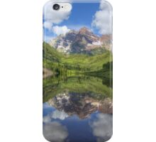Maroon Bells Images - Panorama of the Bells on a Summer Morning iPhone Case/Skin