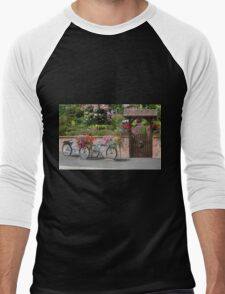 Bicycles and Flowers Men's Baseball ¾ T-Shirt