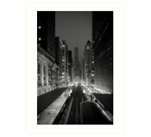 Chicago from the L Train Art Print