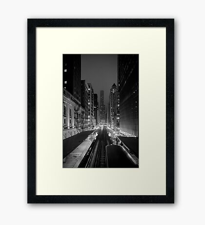Chicago from the L Train Framed Print