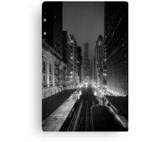 Chicago from the L Train Canvas Print