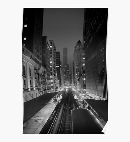 Chicago from the L Train Poster