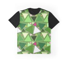 Mid-Century Modern Triangles, Lime Green Multi Graphic T-Shirt