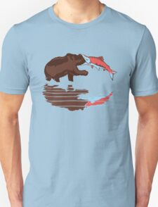 salmon eat bear Unisex T-Shirt