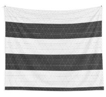 Contrast Diamond Grid  Monocrome Wall Tapestry