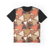 Mid-Century Modern Triangles, Tan, Brown and Beige Graphic T-Shirt