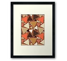Mid-Century Modern Triangles, Tan, Brown and Beige Framed Print