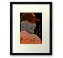 Cal Ripken, Jr. Typography Portrait Framed Print
