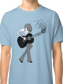 The Girl and the Guitar  Classic T-Shirt