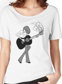 The Girl and the Guitar  Women's Relaxed Fit T-Shirt