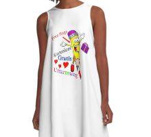 Free Hugs / Kostenlose Umarmung / Gratis Umarmung (Weiß) A-Line Dress