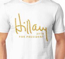 Hillary Clinton Shirts Gold Unisex T-Shirt