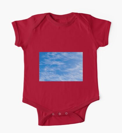 Blue sky with Light Cirrus clouds One Piece - Short Sleeve