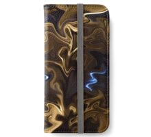 Abstract: Golden Brown with Blue  iPhone Wallet/Case/Skin