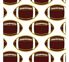 Garnet and Gold Football All-Over Pattern Photographic Print