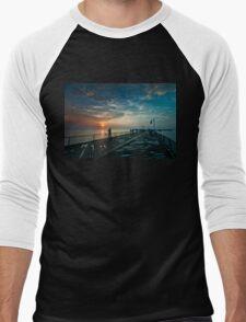 Sun Hook Men's Baseball ¾ T-Shirt