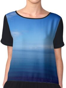 Where Water Meets Sky... (A15) Chiffon Top