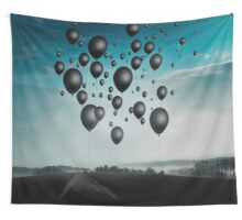 In Limbo - Black Balloons Wall Tapestry