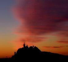 Nobby's Dawn Silhouette - Newcastle NSW Australia by Bev Woodman