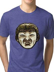 Great Teacher Onizuka Face  Tri-blend T-Shirt