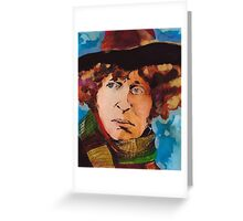 Pouty Fourth Doctor  Greeting Card