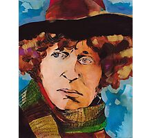Pouty Fourth Doctor  Photographic Print