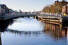 Ha'penny Bridge, River Liffey, Dublin, Ireland by Andrew Jones