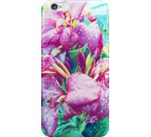 Canna Lily with Water Drops iPhone Case/Skin