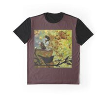 Autumn Fairy and Sparrow Graphic T-Shirt