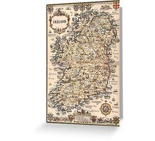 1927 vintage Ireland map Greeting Card