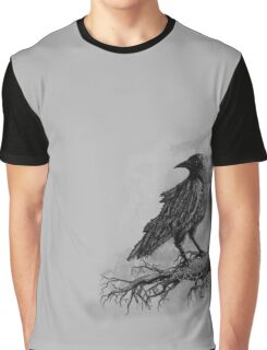 The Crow Against the Moon Graphic T-Shirt