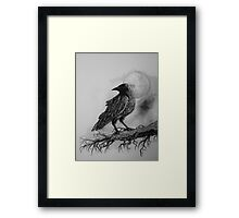The Crow Against the Moon Framed Print
