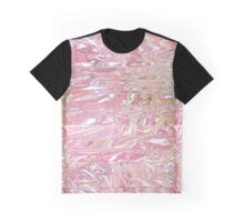 Pink Holographic Wrap Graphic T-Shirt